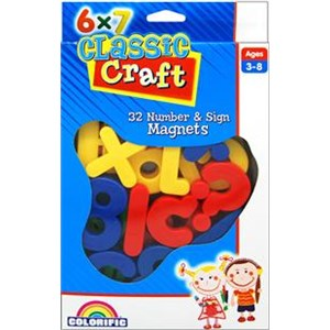 Classic Craft 32 Number & Sign Magnets