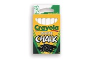 Crayola White Chalk Sticks 12 Pack