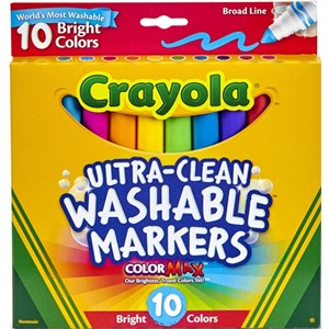 Crayola Washable Bright Color Marker 10 Pack