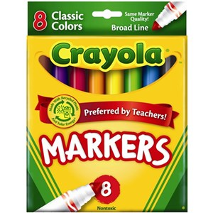 Crayola Washable Classic Color Markers 10 Pack