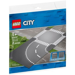 Lego City 7281 T-junction & Curve Plates