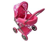 Playworld Pink Doll Pram Medium