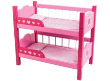 Dolls World Bunk Beds With Quilts & Pillows
