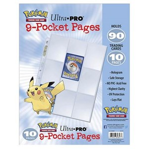 Pokemon Ultra Pro 9 Pocket Pages 10 Pack