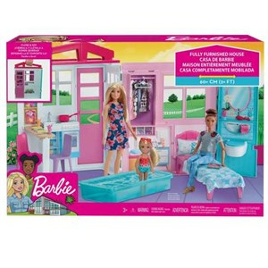 Barbie 2 Story House Fully Furnished