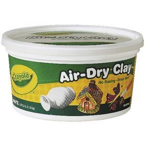 Crayola Air Dry Clay White 1kg