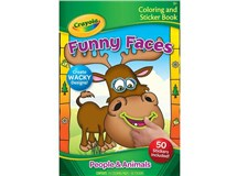 Crayola Funny Faces Coloring & Sticker Book