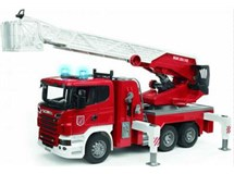 Bruder Scania R-series Fire Engine With Slewing Ladder 1:16