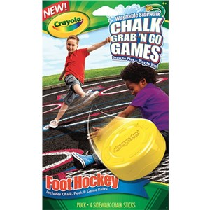 Crayola Chalk Grab N Go Games Foot Hockey