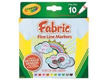Crayola Fabric Fine Line Markers 10 Pack