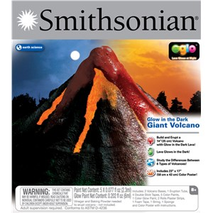 Smithsonian Glow In The Dark Giant Volcano