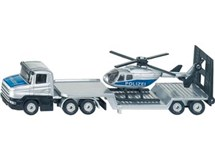 Siku Orange Tag Low Loader With Helicopter 1610