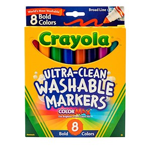 Crayola Ultra-clean Bold Colour Markers 10 Pack