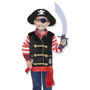 Melissa & Doug Role Play Pirate Costume