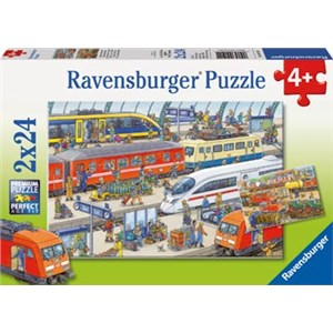Ravensburger Busy Train Station 2x24 Piece Puzzle