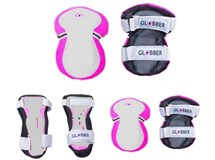 Globber Junior Set Of 3 Protection Pads Pink