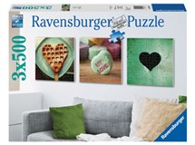 Ravensburger Impressions Of Love 3x 500 Piece Puzzles