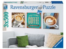 Ravensburger Coffee Time 3x 500 Piece Puzzles