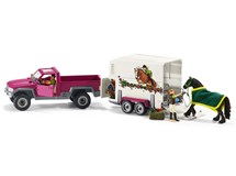 Schleich Horse Club Pick Up With Horse Box 42346