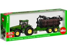 Siku John Deere With Forestry Trailer 1:50 1954