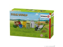 Schleich Farm World Feeding & Grooming Farm Animals 42301