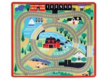 Melissa & Doug Play Rug & Vehicles Round The Town