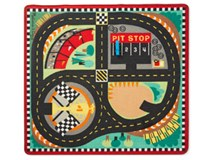 Melissa & Doug Play Rug & Vehicles Round The Speedway Race Track