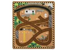 Melissa & Doug Play Rug & Vehicles Round The Construction Zone