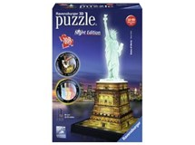 Ravensburger 3d Puzzle Night Edition Statue Of Liberty 108 Piece