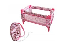 Playworld Pink Travel Cot
