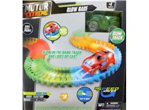 Motor Extreme Glow In The Dark Track & Light Up Car