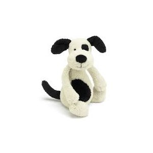 Jellycat Bashful Puppy Black & Cream Small