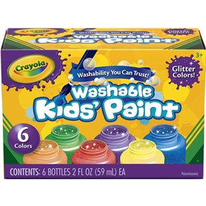 Crayola Kids Paint Glitter 6 Colours