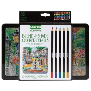Crayola Signature Blend & Shade Colored Pencils 50 Pack