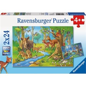 Ravensburger Animals Of The Forest 2x24 Piece Puzzles