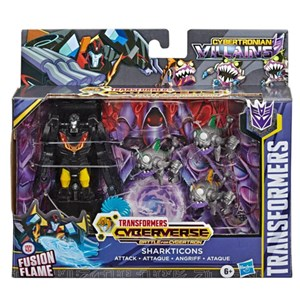 Transformers Cyberverse Sharkticons Fusion Flame