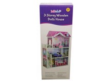 Bubbadoo 3 Storey Wooden Doll House
